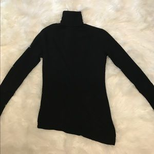BeBe Silk/Cashmere Asymmetrical Turtleneck Sweater